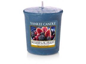 Yankee candle - Vonná svíčka votivní MULBERRY & FIG DELIGHT