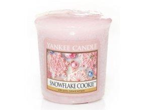 Yankee candle - Vonná svíčka votivní SNOWFLAKE COOKIE